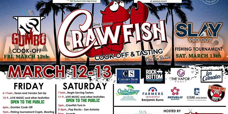 2nd Annual Rockport\'s Crawfish Cook-Off And Tasting Will Liven Your Mood